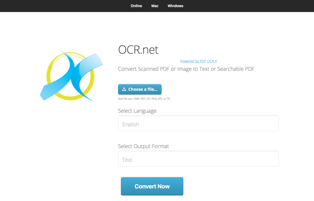 OCR.net desktop screenshot
