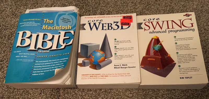 A few of the retro computer books that I picked up recently from Value Village
